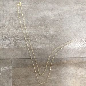 Jewelry - Gold Plated 925 Silver Station Necklace 36in